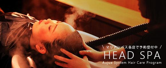 Head Spa using Aujua